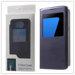Wholesale Ace Flip Case - Samsung Original Leather Flip Phone Case with Window View Shock-Proof Cover For Galaxy S6 EDGE S7 EDGE NOTE7 5 4 J710 J510 J1 ACE J2 J3 J5