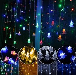 2019 tapones de arbol Lámpara decorativa exterior cadena CA 220V Ventana Navidad El aleros Barandilla Árbol de Navidad colgante decoración lámpara LED cadena de correa Tapón de cola tapones de arbol baratos