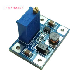 Wholesale Dc Adjustable Boost - Free shipping 1 piece DC-DC SX1308 2A Step-UP Adjustable Power Module Boost Converter 2-24V to 2-28V