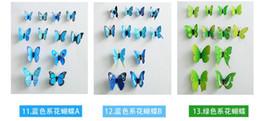 2019 blocs en bois anciens Cendrillon papillon 3d papillon décoration stickers muraux 12pc 3d papillons 3d papillon pvc amovible stickers muraux papillons