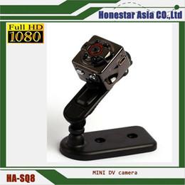 Wholesale Mini Dv Sport - SQ8 Mini DV Spy Camera Full HD 1080P Video Recording 12.0MP CMOS Wireless Motion Detecting Hidden Video Camera Sports DVR