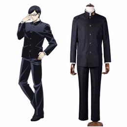 Wholesale School Uniforms For Boys - Sakamoto Desu ga Sakamoto Cosplay Costume Class 3 Grade 2 Black Uniform Japanese School Boys' Uniform Halloween Costume for Men