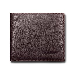 Wholesale Genuine Leather Checkbook Wallet - Men's Wallets Brand Designer Purse Real Cow Leather Short Version Billfolder Simple Fashion Wallet Factory Price