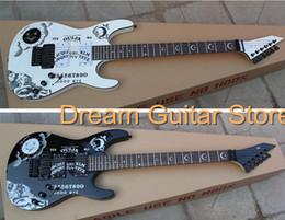 Canada Vente chaude Top Qualité Noir Blanc KH-2 Kirk Hammett Ouija Guitare Électrique Manche En Palissandre Offre