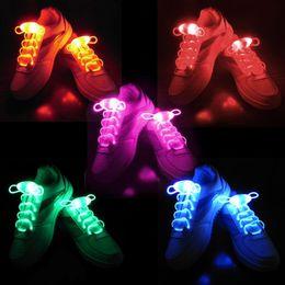 Wholesale Light Up Shoelace Glow - led flashing shoelaces Waterproof Luminous LED Shoelaces Fashion Light Up Casual Sneaker Shoe Laces Disco Party Night Glowing Shoe Strings