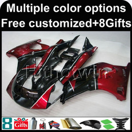 Wholesale Yamaha Fzr - red BLACK motorcycle cowl for Yamaha FZR250 86-89 1986-1989 FZR 250 1986 1989 89-86 ABS Plastic Fairing