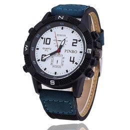 Wholesale Watch Stainless Steel Compass - Fashion wholesale price quartz watch Foreign trade sales sports men's watch Ms denim canvas compass outdoor leisure men quartz watch