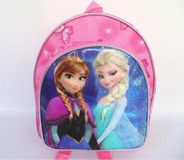 Wholesale Kids Canvas Lunch Bags - Elsa anna backpack kids children shoulder bag tote bag party bag school child bag lunch bag snack bag 5 backpack+5 pencil bag=10pcs