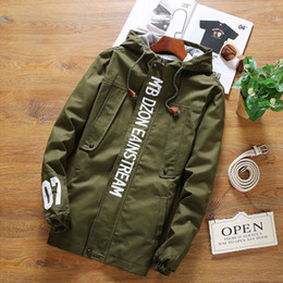 Wholesale Fall Patterns - Fall-New Fashion High Quality Sport Men Jacket Coats 07 print Men Causal Hooded Outdoor Jacket Men Zipper Coats plus size 5xl xxxxl