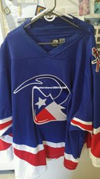Wholesale Ice Hockey Goalie Jersey - Cheap custom NWOT Auth GOALIE Cut Corpus Christi Ice Rays Vintage Minor League Jerseys stitched Men's hockey jersey