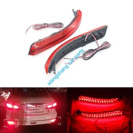 Wholesale Led Rear Bumper Reflectors - 2PCS Lot Car Styling LED Rear Bumper Reflector Brake Lights Stop Fog Warning Lamp Bulbs For Nissan Almera 2013-2015 Accessories