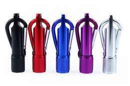 Wholesale Home Keyrings - Best Portable Mini LED Flashlight Keychain Aluminum Alloy Torch with Carabiner Ring Keyrings LED mini Flashlight Mini-light 2016
