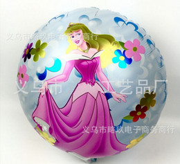 Wholesale Rapunzel Cartoon - Wholesale-10pcs18-inch Rapunzel cartoon children's toys aluminum balloon wedding party decoration supplies