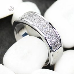Wholesale Product Channels - Copper Rhodium Plated Classic Rings White Cubic Zirconia Sporty MN3262 sz#6 7 8 9 Noble Generous Favourite Best Sellers First class products