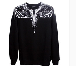 Wholesale Slim Male Clothes - 2017 Marcelo Burlon Colorful Wings Print Sweatshirts Men Women High Quality Fashion Brand Clothing Hoodies Male Hooded Sweatshirts