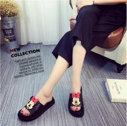 Wholesale Korean Fashion Slippers - 2016 summer new Korean women flat sandals slip flat sweet cartoon toed slippers tide free shipping