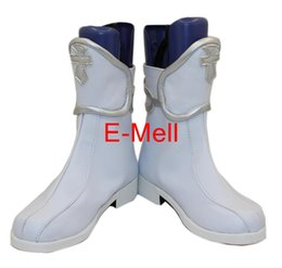 Wholesale Asuna Sword Cosplay - Wholesale-Sword Art Online Cosplay Asuna Women's Shoes Short Boots leather