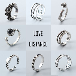 Wholesale Cheap Vintage Wedding Engagement Ring - S925 rings for women silver rings vintage band rings mixed designs jewelry cheap bulk price