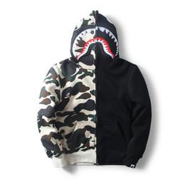 Argentina Nuevo mens tide card tiburón boca color cashmere suéter con camuflaje Hoodie sudadera con capucha parejas vestido para hombres y mujeres cheap mouth card Suministro