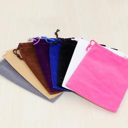 фланелевые мешки для хранения Скидка Фланель комплект карманный многофункциональный хранения ювелирных изделий Drawstring сумка для упаковки подарочные пакеты многоцветной моды 9 6dy C R