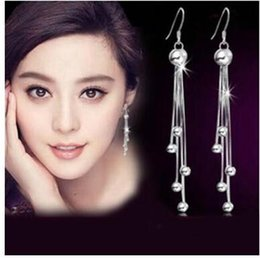 Wholesale Cheapest 925 Silver - S 925 silver Long tassels earrings simple cheapest tassels earrings allergy free earrings three styles can choose shipping free