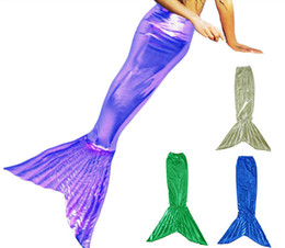 Wholesale White Tail Cosplay - Mermaid fish tail jumpsuit unitard leotard zentai morph catsuit costume cosplay Glue tights suit