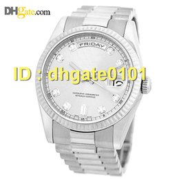 Wholesale Auto Warranty - Free shipping new watches.18K White Gold Day Date President 36mm Factory Diamond 118239 Warranty