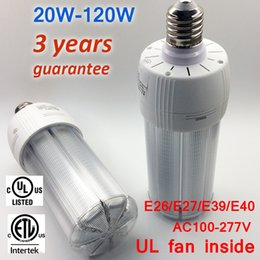 Wholesale Heat Corn - TUV ETL Approval Dust Proof High Quality E40 LED Bulb Light 75w Unique Fan Inside, Lower Weight Body, Faster Heat Dissipation Design