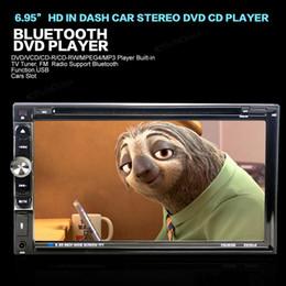 Wholesale Hd Car Radio 2din - 6.95'' HD 2DIN Car DVD Bluetooth Touch Screen CD MP3 MP5 FM Video Player Radio Stereo Head Unit CMO_211