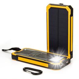 Wholesale Laptop Battery Power Backup - Top 10000mAh Portable Solar Power Bank Dual USB LED Backup Charger Battery