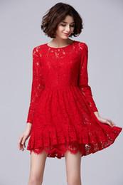 Wholesale Europe Celebrity Fashion - 2016 New Summer office dresses designs Lack Work Dresses Fashion Slim vintage dresses Europe celebrity dresses Plus Size S-XL