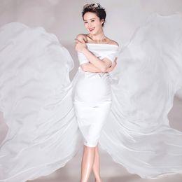 Vendita estiva di maternità online-Vendita calda modello farfalla maternità fotografia puntelli abiti estivi fantasia maternità abiti gravidanza per servizi fotografici