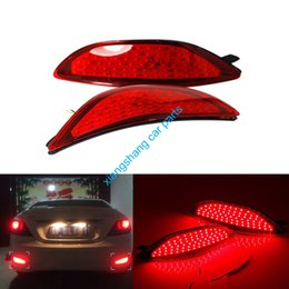 Wholesale Led Rear Bumper Reflectors - 2x Red lens LED Rear bumper reflector light tail brake Parking Warning lamp fog lights fit for Hyundai accent 2008-2015