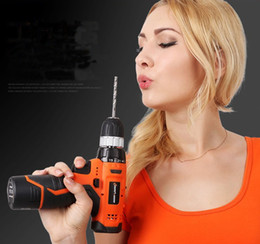 Wholesale Electric Screwdriver Cordless - New sell hot 12 v lithium electric drill two-speed rechargeable electric drill hand multi-functional household electric screwdriver