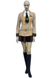 Wholesale Custom School Uniforms - Hot Japanese School Uniform Code Geass Girl's Uniform Cosplay Costume Women Role-playing Halloween Party Costume Outfits