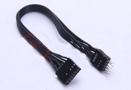 Wholesale Converter Connection - Wholesale- HD Audio 13Pin Female to 9Pin Male Converter Cable Cord 22AWG Wire For Lenovo Motherboard connection HOST Front Panel Audio 20cm
