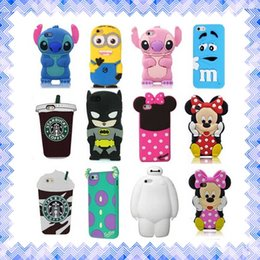 Wholesale Cute S4 Wallet Case - New 3D Cute Cartoon Cases Soft Silicone Rubber phone Cover Case For Samsung S4 S5 S6 S7 iPhone 5 6 6s plus HUAWEI 01