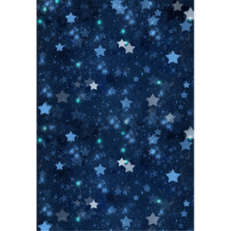 Noche de fotografía de fondo online-Cielo azul oscuro cielo brillo estrellas fotografía telones de fondo Vinilo bebé recién nacido sesión fotográfica fondo niños estudio fondo