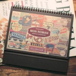 """Wholesale Kawaii Notepads - """"Mon Roman"""" Any Year Desk Calendar Cute DIY Calendar Cartoon Scheduler Agenda Monthly Planner Kawaii Korean Checklist Memo Gift"""