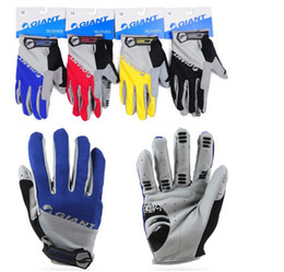 Wholesale Road Fashion - Brand Giant Winter Warm Full Finger Cycling Gloves Sports Accessory road Mountain bike silicone non-slip breathable glove G338