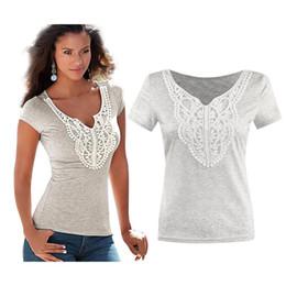 Wholesale Rabbit Tshirt - 2016 Summer New Product Lace Split Cotton Sexy Women Emoji Extended White T Ladies Shirts Plus Size Crop Top Rabbit 3d Tshirt T-shirt
