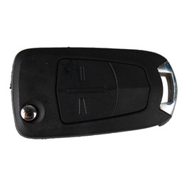 Wholesale Corsa Black - Guaranteed 100% Car 2Buttons Flip Replacement Keyless Remote Fob Key Shell Case For Vauxhall Corsa Opel Astra Vectra Signum Free Shipping