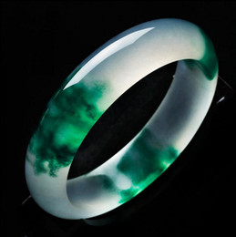 Wholesale White Jade Bangles - Women Bracelet Bangle Emperor Lucky Green Jade Bangles, Natural Ice Burma Jade Bangle Bracelet