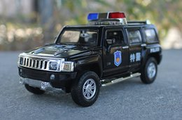Wholesale Model Toy Police Lights - Alloy Car Model, Boy' Toys, SUV Police Car,Patrol Wagon, High Simulation with Sound, Head Lights, Kid' Gifts, Collecting, Home Decoration
