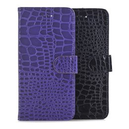 Wholesale Wallet Cover Iphone Snake - For Iphone 8 7 Plus 7PLUS I7 Iphone8 Wallet Flip Leather Pouch Case Stand Crocodile Snake ID Card Holder Money Bag Phone Cover Skin Fashion