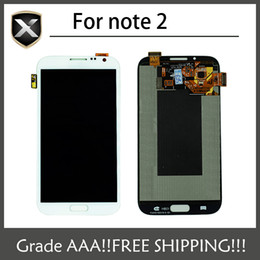 Wholesale Note I317 - Original Grade AAA+For Samsung Galaxy Note 2 N7100 N7105 i317 T889 LCD Display With Touch Screen&Free Shipping