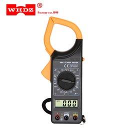 2019 contatore morsetto DHL 20 PZ WHDZ DT266 Corrente Digitale Clamp Meter Buzzer Dati Tenere Multimetro Senza contatto Voltmetro Ohmmetro Amperometro Ohmmetro Volt AC DC