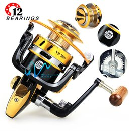 Wholesale Bait Feeder - Brand High quality Fishing spinning 12BB 5.5:1 Metal body saltwater carp feeder for sea reel