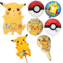 Wholesale Double Foil - Poke Balloon Balloons Party Adornment Foil Double Sided Ballons Poke Go Party Supplies Halloween Christmas Gifts 18 Inch