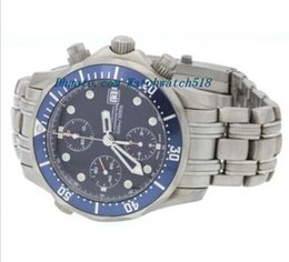 Wholesale Titanium Diving Watches - Luxury Watches Stainless Steel Bracelet Titanium high fashion automatic chronograph men's diving watch 40mm MAN WATCH Wristwatch